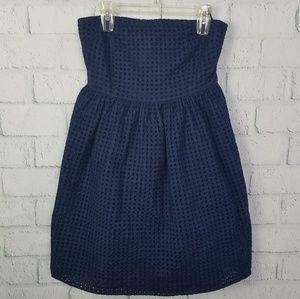 Old Navy Strapless Summer Blue Dress